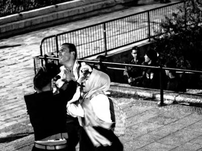 Scontri fra le forze dell'ordine israeliane e i manifestanti palestinesi