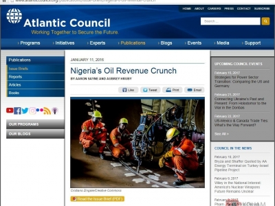 Atlantic Council – Nigeria's Oil Revenue Crunch 2